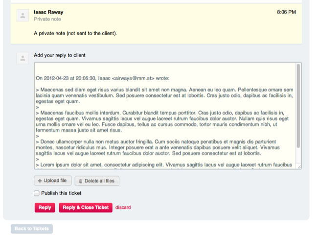 HelpDesk Reply to Tickets